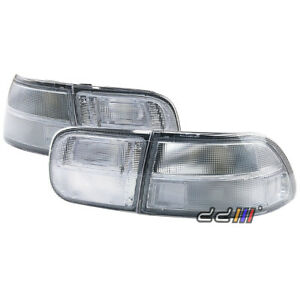 New Clear White Rear Tail Light Lamp For Civic Eg Eh Ej Coupe 4dr 1992 95