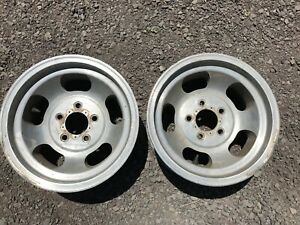 Vintage Pair Barn Fresh 15x7 Us Indy Slotted Mags Slots 5 On 5 Hot Rat Rod