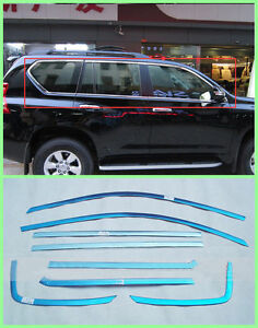 2010 2016 For Toyota Prado Fj150 Steel Full Window Sill Trim 14pcs