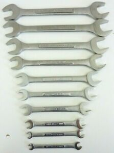 Vintage Craftsman Set Metric Double Open End Wrenches vv V Series Usa