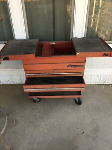 Snap On Tool Chest Rolling Tool Cart With Sliding Top Bin Doors