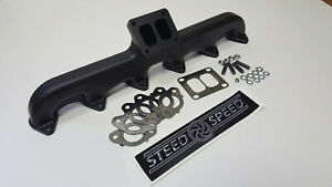 5 9 6 7 Cummins Steed Speed Manifold 24v T3 Angled Flange