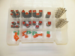 116 Pc Gray Deutsch Dt Connector Kit Stamped Contacts Removal Tools