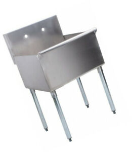 Stainless Steel One Compartment Utility Prep Mop Commercial Sink 24 X 21 Bowl