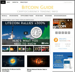 Btc Blog Turnkey Affiliate Website Business For Sale Auto Content