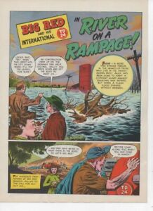 Original Ih 4 page Ad Big Red Td 24 River On A Rampage