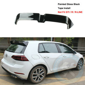 Paint Black Rear Tailgate Roof Top Spoiler Wing Fit For Vw Golf Mk7 2015 2020