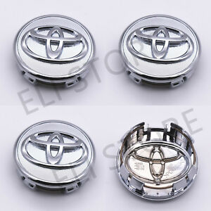 4 Pcs Toyota Wheel Center Cap Chrome 57 Mm Corolla Yaris Prius