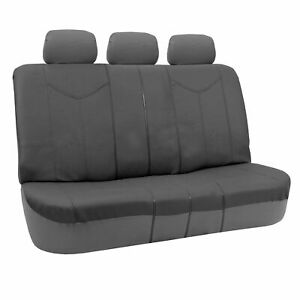 Rome Leather Pair Bench Seat Covers Gray Split