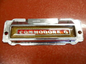 1949 1950 1951 Hudson Commodore 6 Radio Delete Plate Gold Red P n 220568