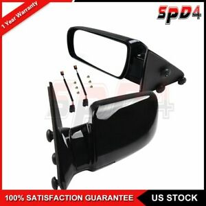 For 1988 98 Gmc Chevy Pickup Lh Rh Side Mirror Manual Fold Manual Black Mirror
