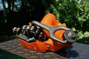 Ridgid Model No 560 Top Screw Stand Chain Vise 1 8 To 5 Pipe Cap Made In Usa
