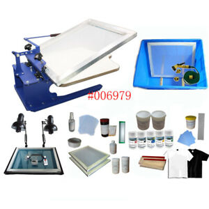 Monochrome T shirt Screen Printing Complete Set Materials Kit Top grade Us