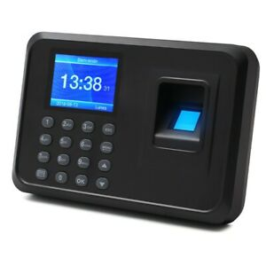 F01 Biometric Fingerprint Time Clock Employee 2 4 Screen Software free X sz
