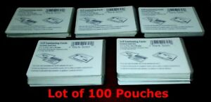 100 High Quality Self Laminating Card Pouches 2 1 2 X 3 7 8 62x99mm Business