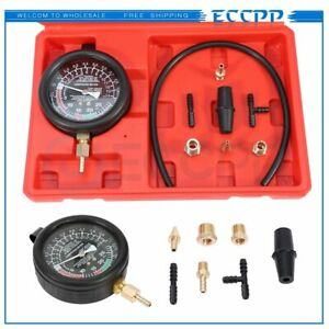 Fuel Pump Vacuum Tester Carburetor Valve Pressure Tester Gauge Kit Car Truck