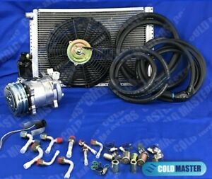 New A C Kit Universal Under Dash No Evaporator 12vbig Size Cars Trucks