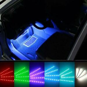 Rgb Colored Led Glow Car Interior Kit Under Dash Foot Floor Seat Accent Light