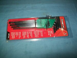 New Snap On Awtxl8 T9 To T40 Hex End Extra Long Torx Hex Key Set Sealed
