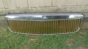 2000 2005 Cadillac Deville E g Classic Vertical Gold Grille Grill 01 02 03 04