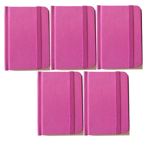 Hardcover Notebook Journal Pink 96 Pages Small 4 X 3 Ruled Pocket Size 5 pack