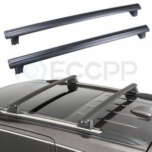 Cross Bar For 2011 2012 Jeep Grand Cherokee Black Front Rear Roof Rack Eccpp
