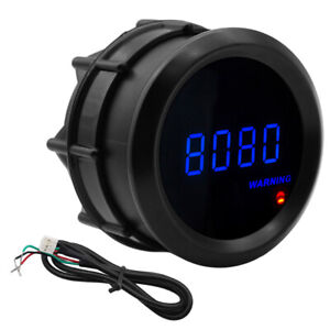 New Car Motor 2 52mm Blue Digital Led Elec 0 9999 Rpm Tachometer Tacho Gauge Us