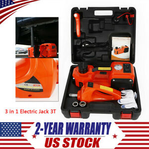 3 In 1 12v Dc 3t Electric Hydraulic Floor Jack Lift Set Car Use Wrench Suvs Pro