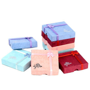 6 Pack Cardboard Jewelry Gift Boxes Square Bracelet Anklet Gift Cases 3 5 x3 5