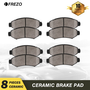 Front Rear Ceramic Brake Pads For 2013 2014 2015 2016 2017 2018 Nissan Altima