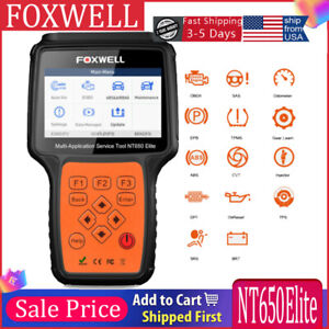 Foxwell Nt650elite Obd2 Code Reader Car Diagnostic Tool Engine Abs Srs Auto Scan