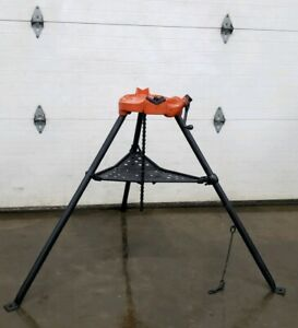 Ridgid 450 Chain Vise Tripod Stand Use W your Pipe Threading Threader 300 2
