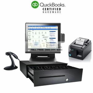 Complete Hardware Pos Bundle For Quickbooks Pos Basic Pro Multistore I5 8gb Ram