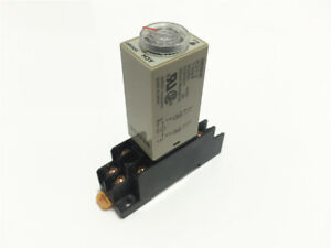 1set H3y 2 On Delay Timer 12 24 110 220v 5 10 30 60s Time Relay 8pin Dpdt W Base