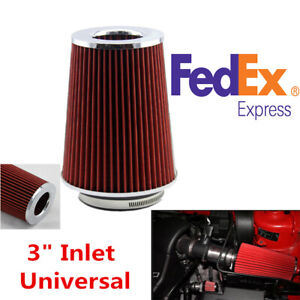 76mm Length Washable Car Cold Air Intake Filter Reusable 8 86 Height Universal