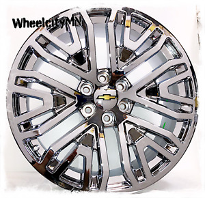 22 Inch Chrome 2019 Chevy Suburban Tahoe Silverado Ltz Oe Replica Wheels 6x5 5