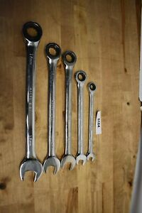 Craftsman Professional 5 Piece Polished Metric Ratchet Wrenches 8 10 13 14 17mm