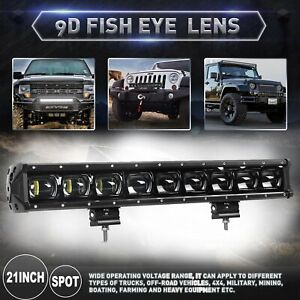 21inch 9d Single Row Driving Light Off Road Led Light Bar For Truck Jeep 20 22