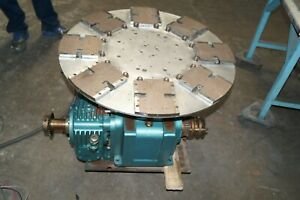 Industrial 30 Turntable Camco Emerson Baldor 1 1 2 Hp Dc Motor