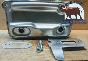 The Duke s Stihl Ts410 Ts420 Muffler With Gasket Heat Shield Hardware 4238 140 0