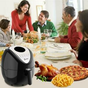 6 8qt Large Capacity Air Fryer W Lcd Screen 6 5l 1800w Timer Roast Chicken