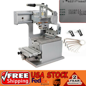 Manual Pad Printing Machine Kit Pad Printer Opened Ink Dish System Plate Pad Diy
