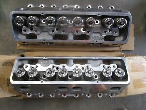 Brodix Sbc Aluminum Heads 11a 11x With 2 08 1 60 Stainless Valves new