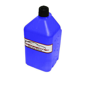 Disaster Water Fuel Storage 5 Gallon Utility Fuel Dump Jug With Fill Hose Blue