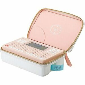 Kingjim Label Writer Tepura Pro With Ac Adapter And Case Set Sr gl2ry Coral Pink