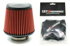 1320 Perf Fab 2 5 Universal Air Filter Cone Reusable Red With Pre filter