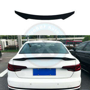 Gloss Black Rear Tail Trunk Lip Spoiler Wing Fit For Audi A4 B9 S4 2017 2022