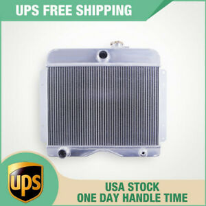 For 1946 1964 Jeep Willys Station Wagon 3 Rows Full Aluminum Radiator Luxerad
