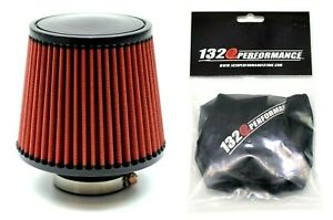 1320 Performance 4 Universal Air Filter Cone Reusable Red With Pre Filter