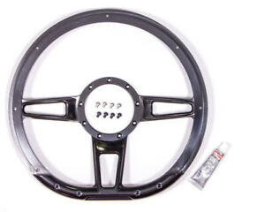 Billet Specialties Steering Wheel Formula 14 3 spoke Aluminum Black